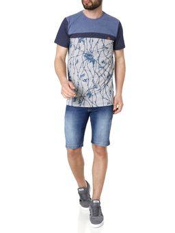 Camiseta-Manga-Curta-Masculina-Gangster-Azul-cinza