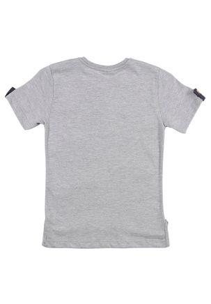 Camiseta-Manga-Curta-Infantil-Para-Menino---Cinza