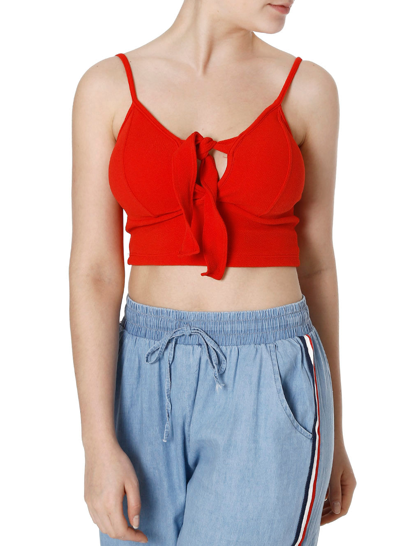 b7b17a938b1 Top Cropped Feminino Vermelho - Lojas Pompeia