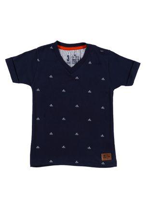Camiseta-Manga-Curta-Infantil-Para-Menino---Azul-Marinho-1