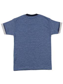Camiseta-Manga-Curta-Infantil-Para-Menino---Azul
