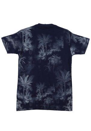 Camiseta-Manga-Curta-Juvenil-Para-Menino---Azul-Marinho