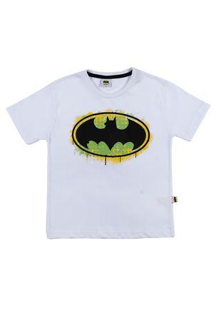 Camiseta-Manga-Curta-Batman-Infantil-Para-Menino---Branco-6