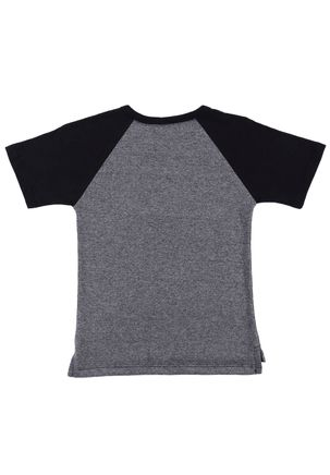Camiseta-Manga-Curta-Infantil-Para-Menino---Cinza-preto-1