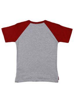 Camiseta-Manga-Curta-Infantil-Para-Menino---Cinza-vermelho-1