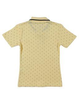 697025a2b4 Polo Manga Curta Infantil para Menino - Amarelo