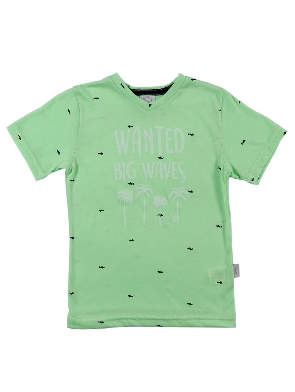 62a23601704b1c Camiseta Manga Curta Infantil para Menino - Verde