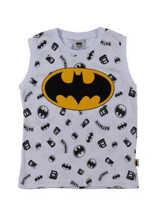 Camiseta-Regata-Batman-Infantil-Para-Menino---Branco-1