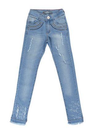Calça Jeans Juvenil Para Menina - Azul 2c91840950327