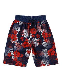 Bermuda-Praia-Juvenil-Para-Menino---Azul-Marinho-vermelho-16