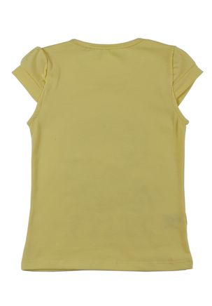 Blusa-Manga-Curta-Infantil-Para-Menina---Amarelo-6