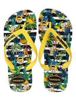 Chinelo-Masculino-Havaianas-Minions-Branco-amarelo-33-34