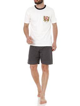 Pijama-Curto-Masculino-Off-White-P
