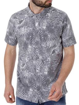 Camisa-Manga-Curta-Masculina-Cinza
