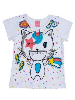 Blusa-Manga-Curta-Infantil-Para-Menina---Branco-1
