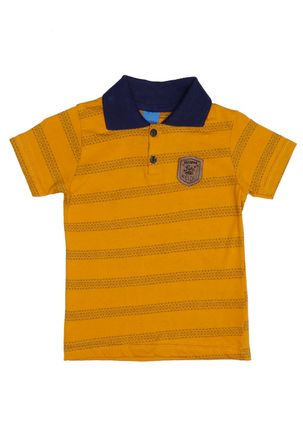 Polo-Manga-Curta-Infantil-Para-Menino---Amarelo-1