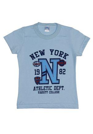 Camiseta-Manga-Curta-Infantil-Para-Menino---Azul-1