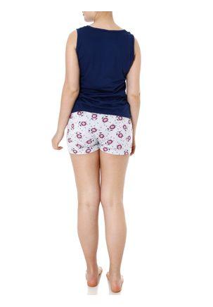 Pijama-Curto-Feminino-Azul-Marinho-cinza-P
