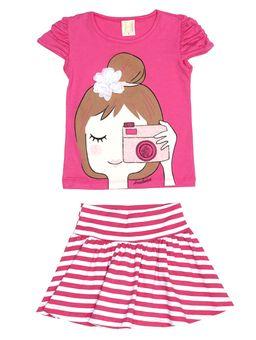 Conjunto-Infantil-para-Menina---Rosa-Pink
