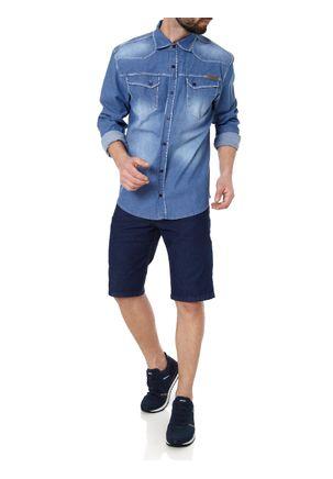 Camisa-Jeans-Manga-Longa-Masculina-Bivik-Azul