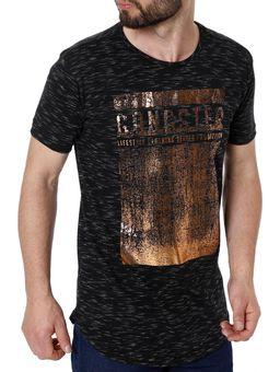 Camiseta-Alongada-Manga-Curta-Masculina-Gangster-Preto