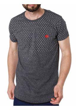 Camiseta-Alongada-Manga-Curta-Masculina-Gangster-Cinza-P