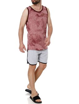 Camiseta-Regata-Alongada-Masculina-Gangster-Bordo