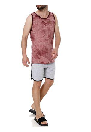 Camiseta-Regata-Alongada-Masculina-Gangster-Bordo