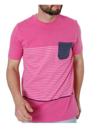 Camiseta-Manga-Curta-Masculina-Rovitex-Rosa-P