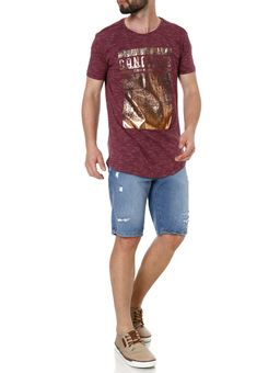 Camiseta-Alongada-Manga-Curta-Masculina-Gangster-Vinho