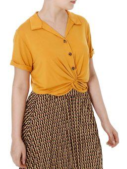 Camisa-Manga-Curta-Feminina-Autentique-Caramelo-P