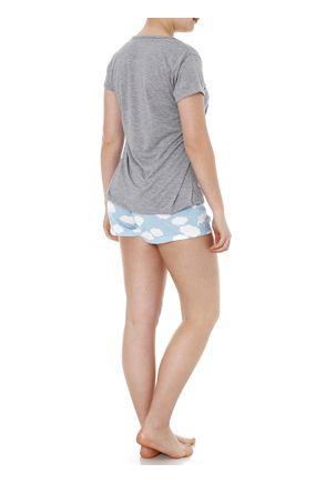 Pijama-Curto-Feminino-Cinza-P