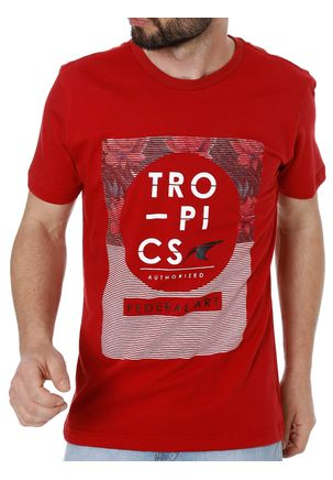 Camiseta-Manga-Curta-Masculina-Federal-Art-Vermelho-P
