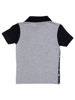 Polo-Manga-Curta-Infantil-Para-Menino---Preto-cinza-1