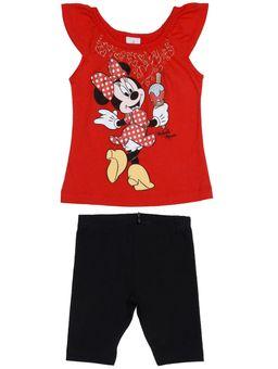 Conjunto-Disney-Infantil-para-Bebe-Menina---Vermelho-preto
