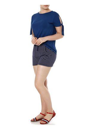Short-de-Tecido-Feminino-Azul-Marinho-P
