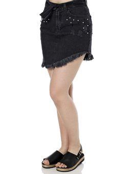Saia-Curta-Jeans-Feminina-Preto-36