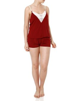 Short-Doll-Feminino-Bordo-P