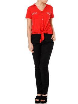 Camisa-Manga-Curta-Feminina-Autentique-Vermelho-P