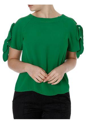 Blusa-Manga-Curta-Feminina-Verde-P