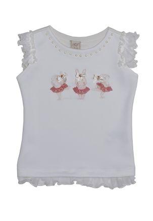 Blusa-Manga-Curta-Infantil-para-Menina---Off-White