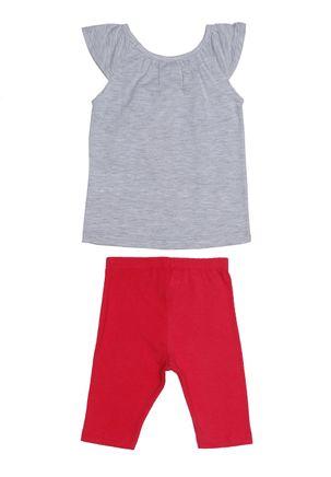 Conjunto-Disney-Infantil-para-Bebe-Menina---Cinza-rosa