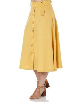 Saia-Midi-Feminina-Autentique-Amarelo