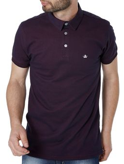 Polo-Manga-Curta-Masculina-Bordo-P