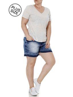 Blusa-Manga-Curta-Plus-Size-Feminina-Cativa-Cinza-EG