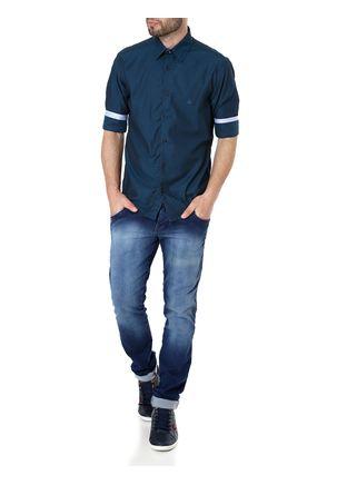 Camisa-Manga-3-4-Masculina-Verde-P