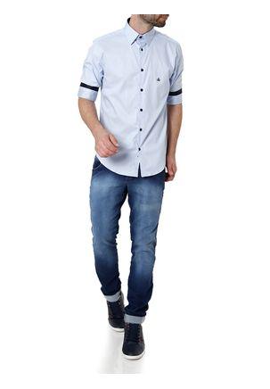 Camisa-Manga-3-4-Masculina-Azul-P