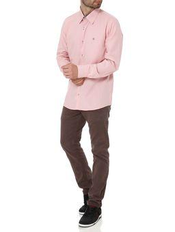 Camisa-Slim-Manga-Longa-Masculina-Rosa