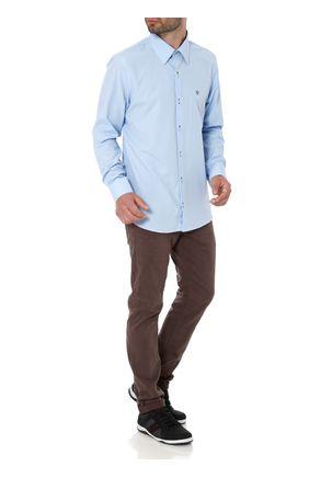 Camisa-Slim-Manga-Longa-Masculina-Azul