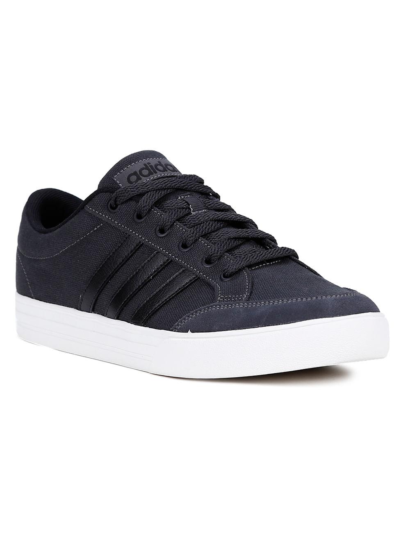 b11cdc1f0 Tênis Casual Masculino Adidas Vs Set Cinza/preto - Lojas Pompeia